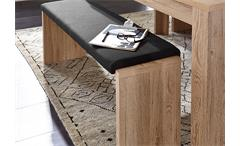 Tischgruppe Lüttich Tisch ausziehbar Sitzbank inkl. Klemmkissen Eiche hell