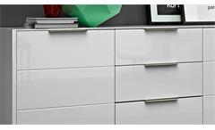 Sideboard Median Kommode Anrichte Stauraumelement in weiß Hochglanz 180 cm