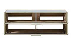 TV-Board Median Unterteil Lowboard Unterschrank in Eiche und grau inkl. LED