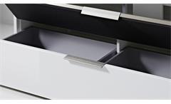 Wohnwand 2 Median Anbauwand Wohnkombi Set weiß Hochglanz mit Akustikstoff grau