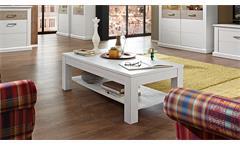 Couchtisch Modena Wohnzimmer Tisch in Pinie hell mit Ablage 120 x 65 cm
