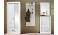 Garderoben-Set 4 Lima Garderobe Schrank Paneel Spiegel Schuhschrank Pinie hell Taupe