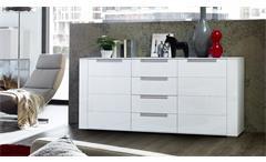 Sideboard Dinaro Kommode Anrichte Wohnzimmer Schrank in weiß matt 170 cm breit