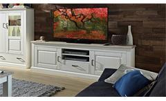 TV-Board Limas Lowboard Unterschrank Kommode in Pinie hell Taupe Landhaus 200