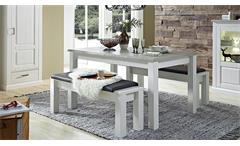 Esstisch Limas Tisch Esszimmertisch ausziehbar in Pinie hell und Taupe 160-240