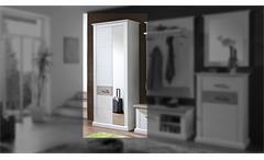 Garderobenschrank 1 Modena Garderobe Schrank Flurmöbel in Pinie hell und Taupe