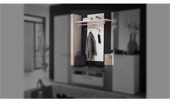 Garderobenpaneel Duo Paneel Flurmöbel Garderobe in weiß Hochglanz 90x132 cm