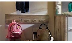 Garderobenpaneel Flame Paneel Wandpaneel Garderobe Flurmöbel in San Remo Eiche