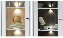 Wohnwand Antwerpen 4 Anbauwand Wohnzimmer in Lärche Pinie dunkel mit LED