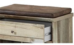 Bank Bonanza Schuhbank Garderobenbank Kommode Driftwood inkl. Kissen braun