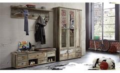 Garderobenset Bonanza Schrank Bank Paneel Driftwood 3-teilig