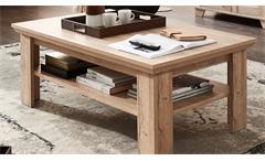 Couchtisch Bristol Beistelltisch Wohnzimmer Tisch Gran Oak hell mit Ablage