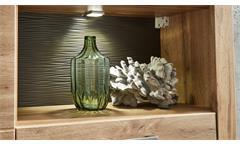 Wohnwand Frisko Anbauwand Wohnzimmermöbel Eiche Altholz mit LED