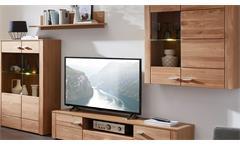 Wohnwand Moldau 1 Anbauwand mit LED Wildeiche teilmassiv Wohnzimmermöbel