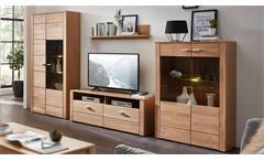 Wohnwand Moldau 2 Anbauwand Wildeiche teilmassiv Wohnzimmermöbel mit LED