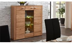 Highboard Moldau Wildeiche teilmassiv inklusive LED