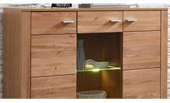 Highboard Moldau Wohnzimmer Schrank Wildeiche teilmassiv inklusive LED