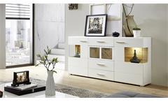 Wohnwand 2 Fun Plus Anbauwand Wohnzimmer in weiß matt Eiche Altholz und Hirnholz