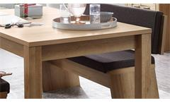 Essgruppe Nature Two Tischgruppe Esszimmer Wildeiche Bianco mit Sitzkissen grau