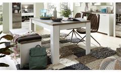 Esstisch Mateo Tisch Küchentisch Esszimmer ausziehbar weiß und Driftwood 240x90