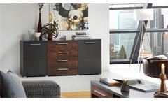 Sideboard Roja Kommode Anrichte Wohnzimmer graphit matt und Ferro Bronze 172 cm