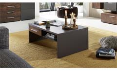 Couchtisch Roja Beistelltisch Wohnzimmer graphit matt und Ferro Bronze 110x65 cm