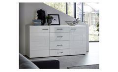 Sideboard Spirit Plus Anrichte Kommode Wohnzimmer Schrank in weiß Hochglanz