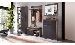 Garderobenset Crown-X Flurmöbel Garderobe in graphit supermatt und Driftwood