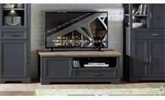 TV-Board Yase Lowboard Unterschrank Wohnzimmer graphit Artisan Eiche 143x54 cm
