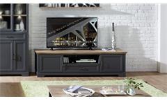 TV-Board Yase Unterschrank Lowboard Wohnzimmer graphit Artisan Eiche 193x54 cm