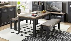 Esstisch Yase Küchentisch Tisch Esszimmer in graphit Artisan Eiche 160-220 cm
