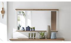 Spiegel Yase Wandspiegel Hängespiegel in Pinie hell und Artisan Eiche 142x74 cm