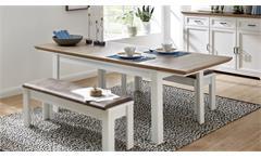 Esstisch Yase Küchentisch Tisch Esszimmer in Pinie hell Artisan Eiche 160-220 cm