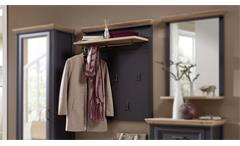 Garderobenpaneel Yase Paneel Garderobe in graphit und Artisan Eiche 93x107 cm