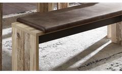 Tischgruppe Roof Esstisch ausziehbar Bank mit Kissen Esszimmer in Used Style