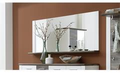 Spiegel Mateo Wandspiegel Dielenmöbel Flurmöbel in weiß und Driftwood 163x70 cm
