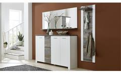 Garderobenset 4 Mateo Garderobe Flurmöbel Dielenmöbel in weiß und Driftwood