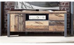 Lowboard TV-Board TV-Tisch Used Style Dark Matera Metall antik Cardiff