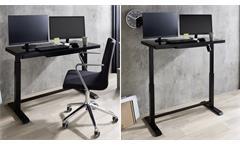 Schreibtisch Arbeitstisch schwarz Home Office höhenverstellbar USB Lift4Home