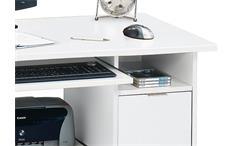 Schreibtisch CSL 220 Computertisch Bürotisch Tisch Büromöbel in weiß Jahnke