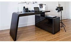 Eckschreibtisch CSL 465 E Computertisch schwarz matt Glas von JAHNKE