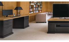 Classik Desk 150 Jahnke Schreibtisch Home Office Wildeiche Cashmir grau