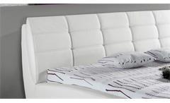Polsterbett weiß Kristin Schlafzimmer Doppelbett180x200 cm