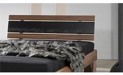 Futonbett 120x200 Bett Rhone Nussbaum mit Matratze und Rollrost