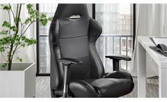 Chefsessel Akati Bürostuhl Drehstuhl Schreibtischstuhl in schwarz