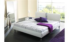 Polsterbett Denver modernes Bett Schlafzimmerbett in Schwarz mit Grau 140x200 cm