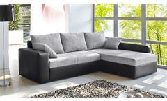 Ecksofa Viper Sofa Wohnlandschaft in schwarz und grau mit Bettfunktion Kissen