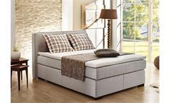 Boxspringbett Romantica Doppelbett Bett Lava und beige inkl. Topper 140x200