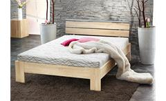 Bett SLEEP Sonoma Eiche inkl. Rollrost und Matratze 140x200