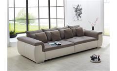 Big Sofa BIG POINT Creme Webstoff Beige Braun